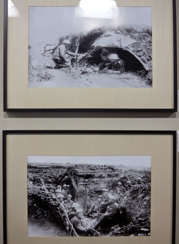 Vimy Ridge, National Historic Site of Canada, Northern France. Photos of the trenches in the visitor centre.