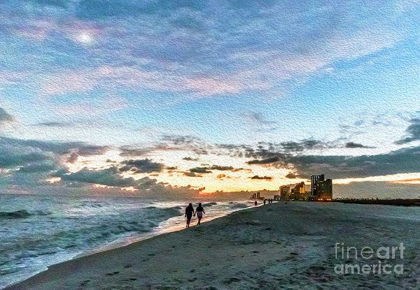 Photograph Gulf Shores Beach Sunset Seascape Shop Contemporary