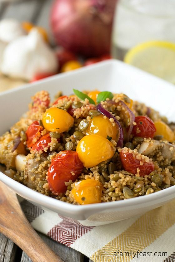 Couscous with Lentils and Vegetables - A delicious vegetarian meal or side dish that is part of the Weight Watchers #SimpleStart program. #WWSponsored