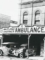 Maitland District Ambulance Station in High Street., Maitland, New South Wales. (Photo undated) possibly 1930's. v@e