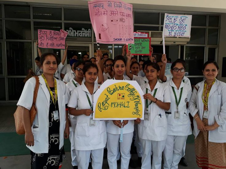 World No Tobacco Day is just a week away.  To spread awareness about the ill effects of tobacco, students of Rayat Bahra College of Nursing participated in #slogan #writing competition at Civil Hospital, Phase 6, Mohali.  #RayatBahraUniversity #RBU #RayatBahra #RBCH #Nursing #Chandigarh #Mohali #Kharar