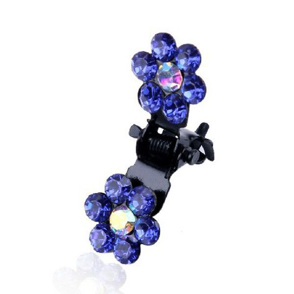 6Pcs Fashion Mini Headwear Rhinestone Crystal Bridal Hair Claws Women Snowflake Hair Pins Flower Girl Hair Accessories