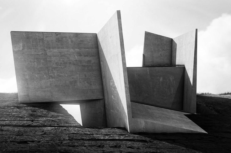 Cliff Top Retreat by Alex Hogrefe of Visualizing Architecture conceptual concrete architecture