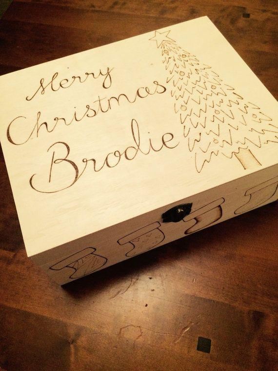 Custom wooden box Personalised box custom box wooden box wood burned box storage box keepsake box pyrography box keepsake gift unique by RockeryCottage
