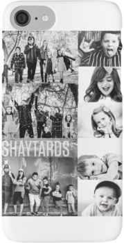 Shaytards Black and White Collage iPhone 7 Cases