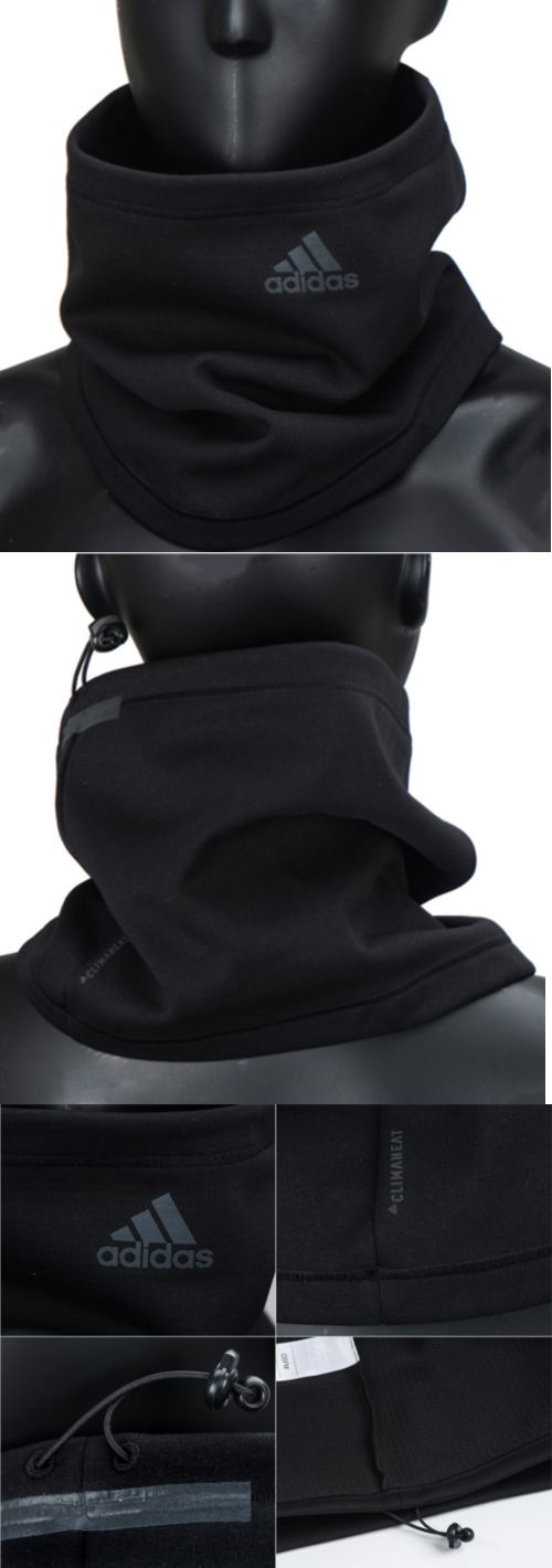 Hats and Headwear 62175: Adidas 2017 Climaheat Fleece Neck Warmer Black Unisex Face Mask Scarf Br6821 -> BUY IT NOW ONLY: $33.9 on eBay!