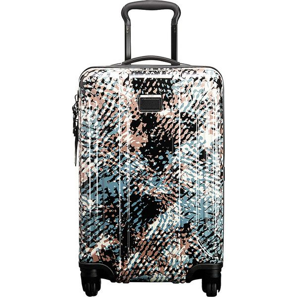 Tumi Vapor Lite International Carry On Carry-On Luggage ($475) ❤ liked on Polyvore featuring bags, luggage, grey and hardside luggage