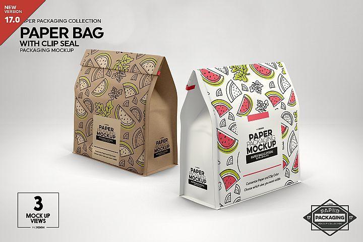 Download Paper Bags With Clip Seals Packaging Mockup 338560 Branding Design Bundles Packaging Mockup Design Mockup Free Free Packaging Mockup