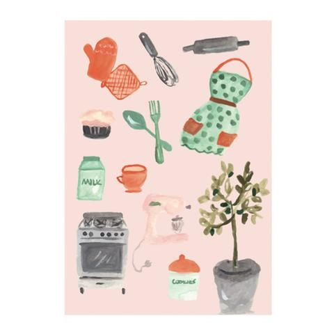 Kitchen greeting card by NUNUCO® #nunucodesign