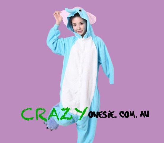 Blue Elephant Onesie. 25% off EVERYTHING in store. Free Express Delivery Australia-wide. Visit www.crazyonesie.com.au for more details. Visit our Facebook page https://www.facebook.com/crazyonesie for exclusive competitions and discounts