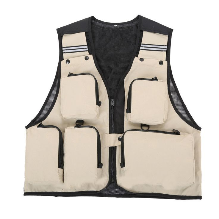Hot Sale Outdoor Sport Clothing Fishing Vest Summer Fishing Vest Multi Pocket Fishing Director Photojournalist Clothes 7 Colors
