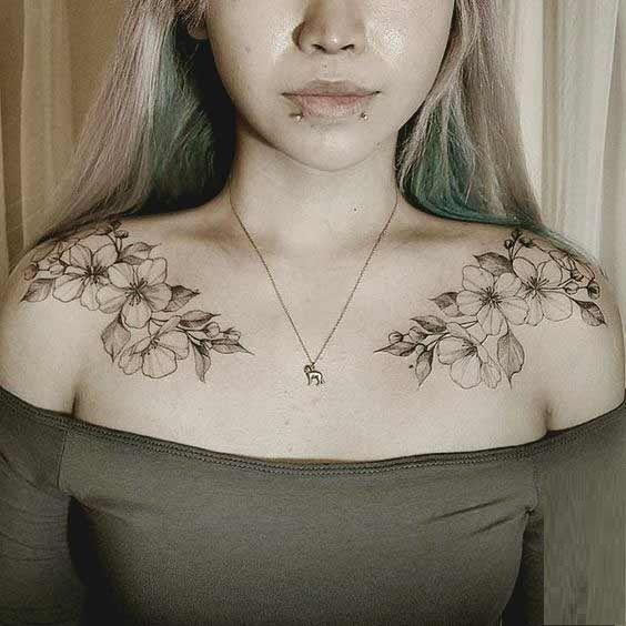 50 atemberaubende Kragenknochen-Tattoos für Frauen und Männer # atemberaubende … #tattoos