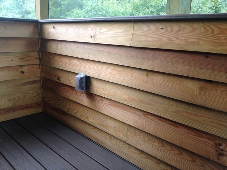 Screened Porch With Knee Wall Google Search Outdoor