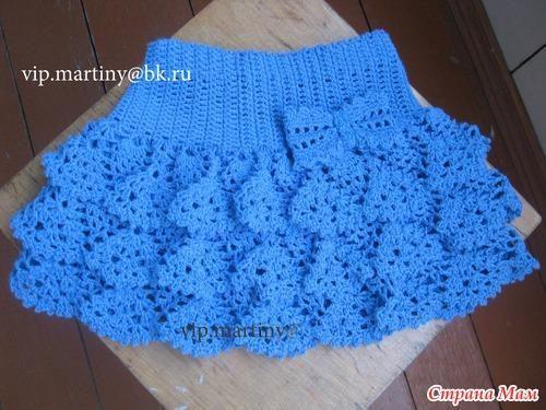 Детская ажурная юбка связанная крючком