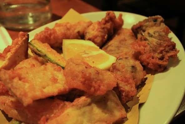 Pollo e coniglio fritto alla lucchese