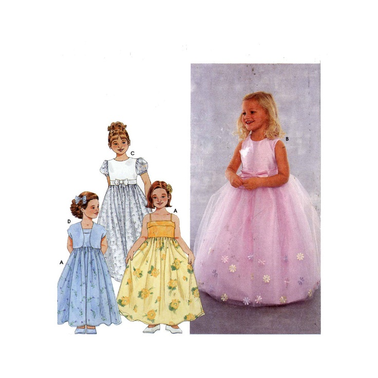 flower girl dresses patterns | Simplicity 9147 Sewing pattern flower girl princess dress Size 3 to 5
