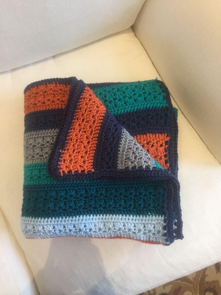 Arco iris crochet afgano por CrochetCornerByNikki en Etsy