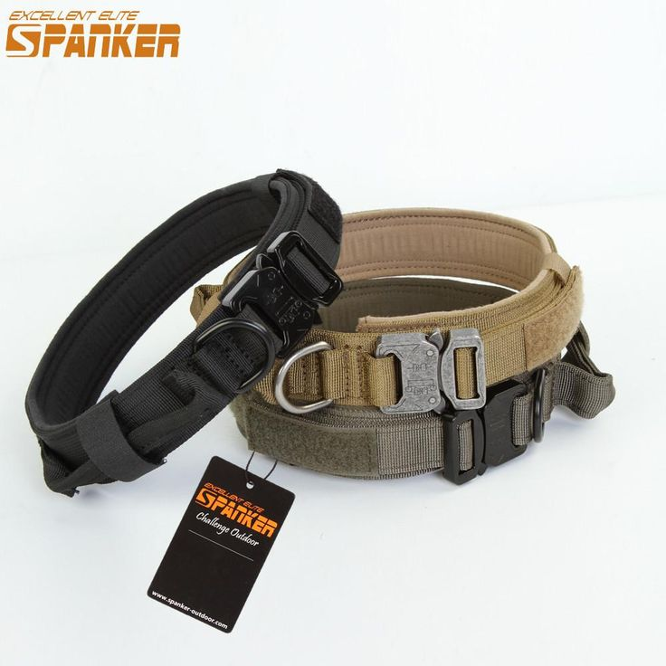 Spanker New 1.5 Inch Wide Military Nylon Dog Collar Outdoor Tactical Training Hunting Led Dog Collars For Big Dogs Necklace