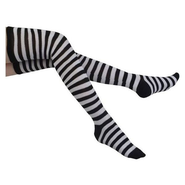 Womens Striped Socks Over the Knee Cotton Long Tube Stockings Thigh Hi ❤ liked on Polyvore featuring intimates, hosiery, socks, striped tube socks, thigh high socks, long socks, stripe tube socks and over the knee tube socks