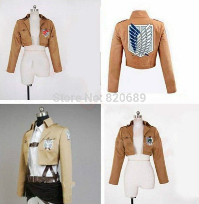 Attacco su titano shingeki no kyojin eren cosplay anime costume cappotto survey corps training corps polizia militare reggimento(China (Mainland))