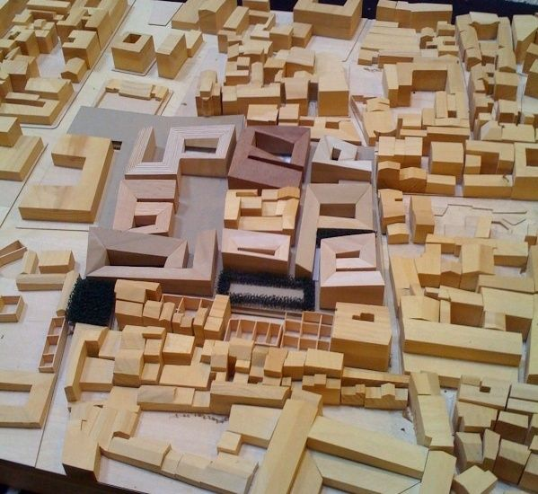 cool wooden urban model