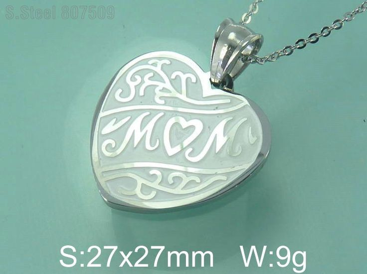 Mothers Day Gift Necklace Pendants Fashion Heart Newest Stainless Steel Jewelry For Mom Free Chain C9P4233