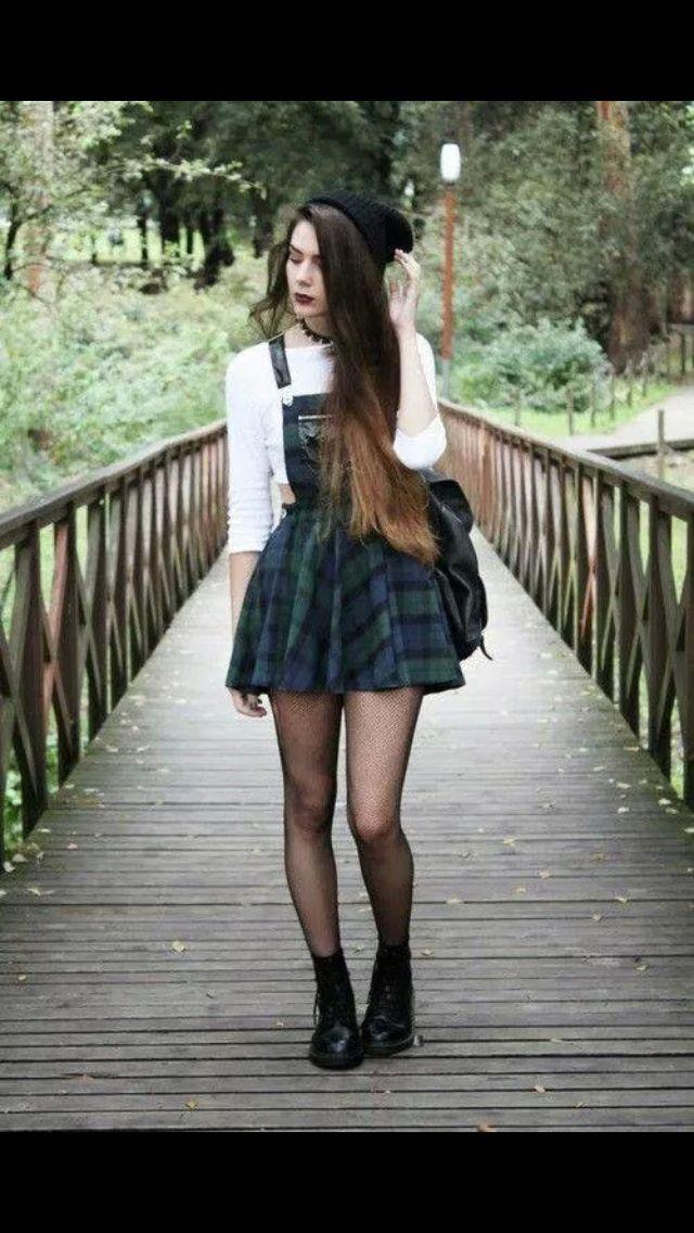 #grunge #outfit #black #rock #love #girl #alternative #style