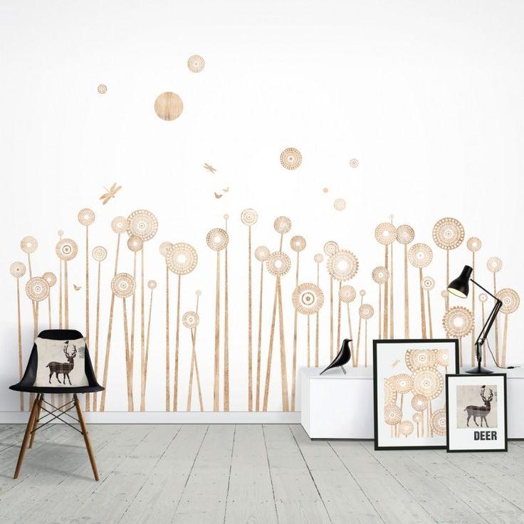 Wauw! Deze muurstickers met houtprint zijn wel heel bijzonder; van het Engelse merk Funky Little Darlings. Price €109,95