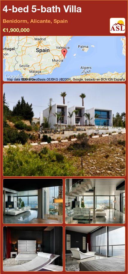 4-bed 5-bath Villa in Benidorm, Alicante, Spain ►€1,900,000 #PropertyForSaleInSpain