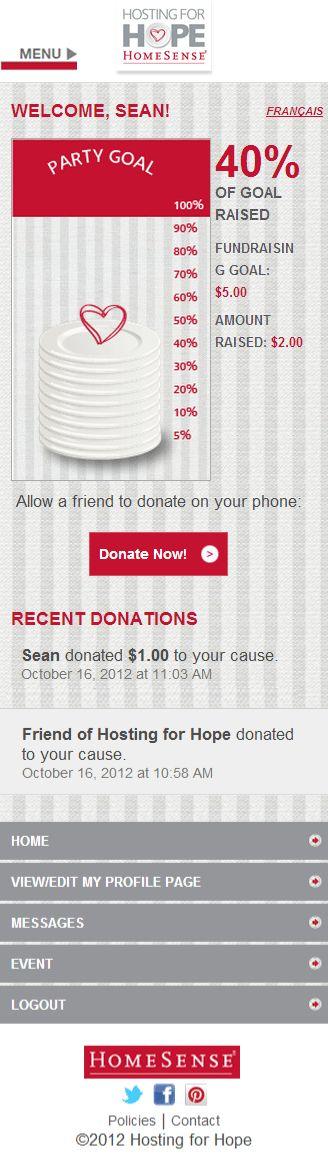 Homesense Hosting for hope