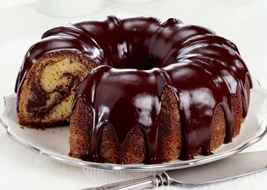 marble cake with chocolate glaze - David Bishop Inc./Photolibrary/Getty Images