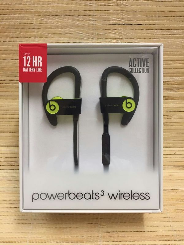 Powerbeats3 Wireless Earphones - Yellow Now £129.98, Save £39.97