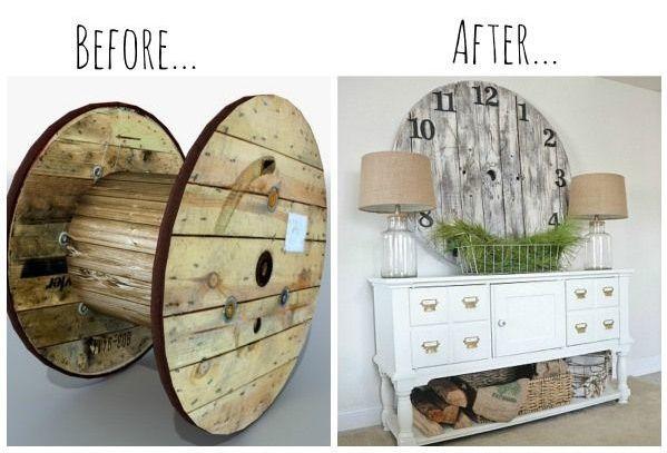 15+ Fab Art DIY Wood Wire Spool Furniture Ideas and Tutorials | www.FabArtDIY.com - Part 2