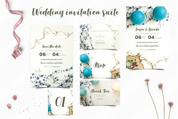 Wedding Invitation Suite by Kahuna Design on @creativemarket
