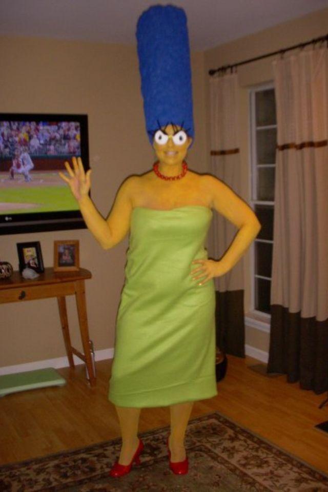 my homemade marge simpson costume - Simpson Halloween Costume