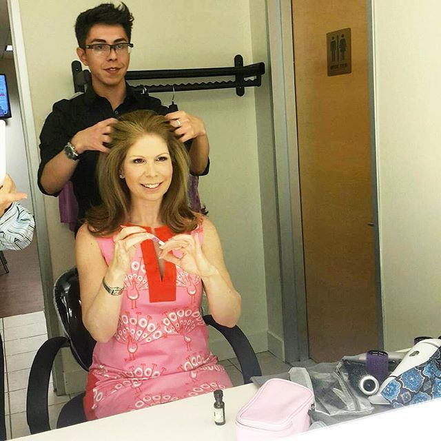 Shari getting her hair done (while doing her own nails) at the #QVC Headquarters. Ready to go On-Air to talk about our exclusive manicure collection #TSV.