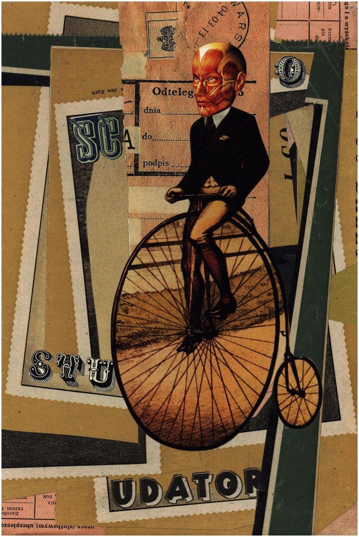 The deconstructive unicycle, [collage 25 x 17 cm], II 2016