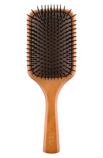 Aveda Wooden Paddle Brush - doesn't snag my hair and the slightly scratchy bristles feel amazing on the scalp!