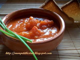 Mon petit bistrot: Crostini con salsa di pomodorini caramellati allo zenzero