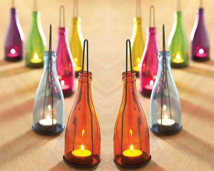 Garden Bottle Lanterns