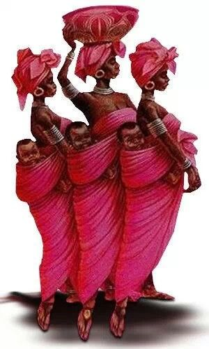 African Women. I love this painting!                                                                                                                                                                                 Mais