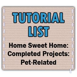 Pet DIY tutorials, everything from beds to clothes to cat canopies