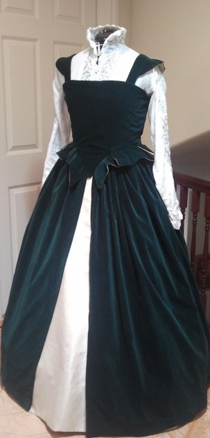 Renaissance French Gown in Velveteen - Custom Size/Color. $256.00, via Etsy.