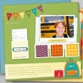 Create a school year story with free scrapbook pages.