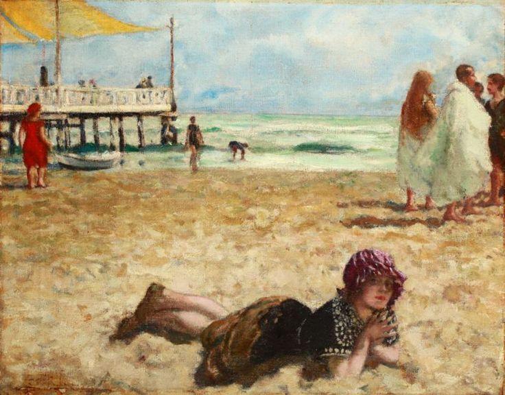Csók István: Züzü a tengerparton | Legyen képben!