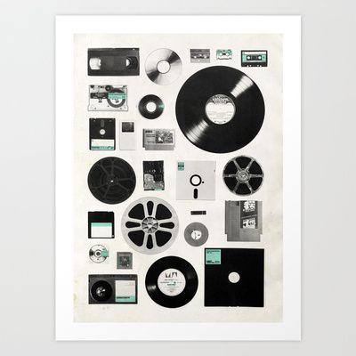 Data Art Print by Speakerine / Florent Bodart - $19.95