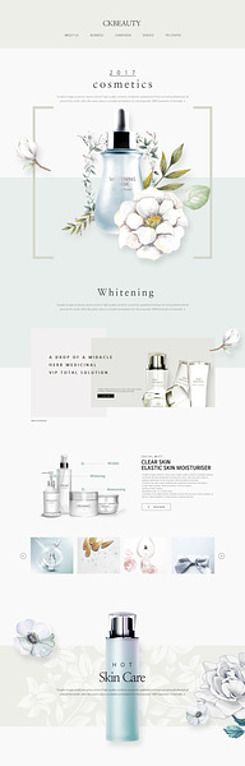 cosmetics and beauty care web design