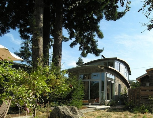 Leger Wanaselja Architects of Berkeley CA created this small abode from Salvaged materials