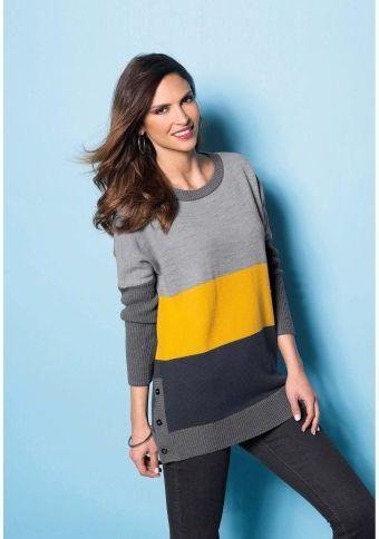 Pulovr s grafickými pruhy #ModinoCZ #fall #autumn #fashion #colours #autumncolours #trendy #stylish #podzimnimoda #moda #styl