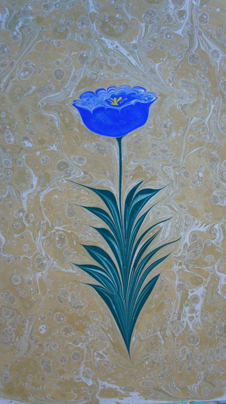 Mehmet Refii Kileci hocamızın ürünlerinden geleneksel Ebru sanatımız.